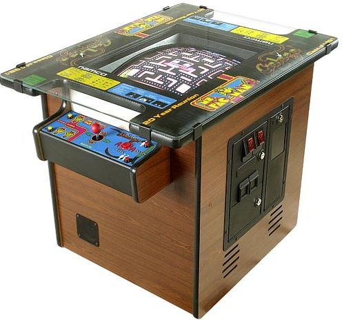 Multicade cocktail table arcade game