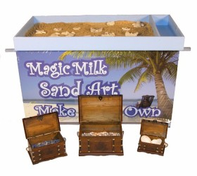 Magic Milk Sand Art